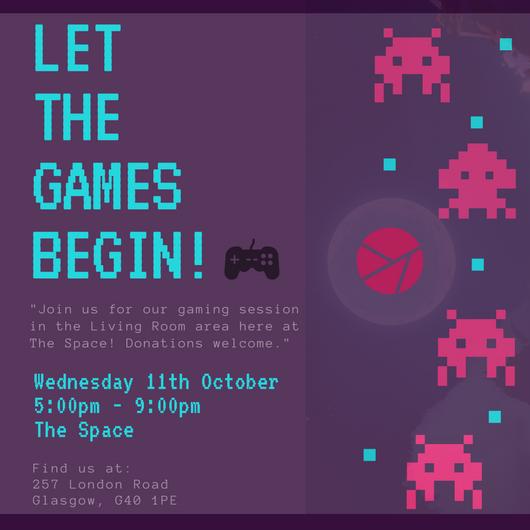 Copy of Dark Violet Pixelated Video Game Night Invitation